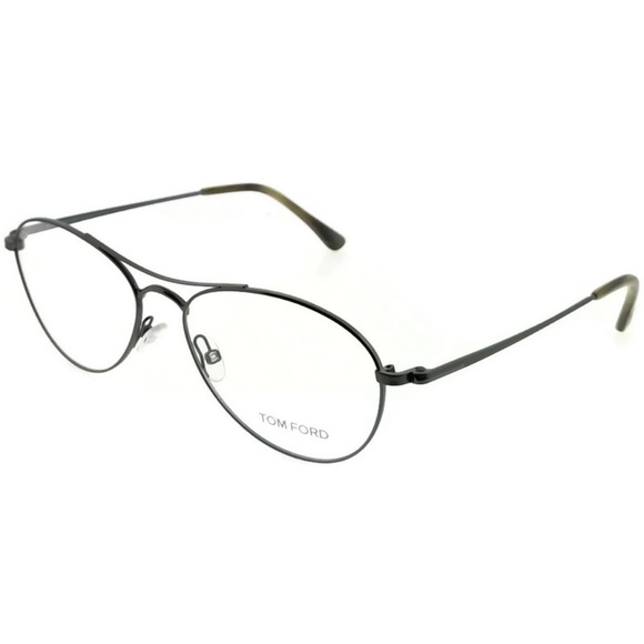 1188146163219 FT5330-012 Unisex Ruthenium Frame Clear Eyeglasses. NWT. Tom Ford
